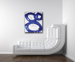 blue-circle-art-modern