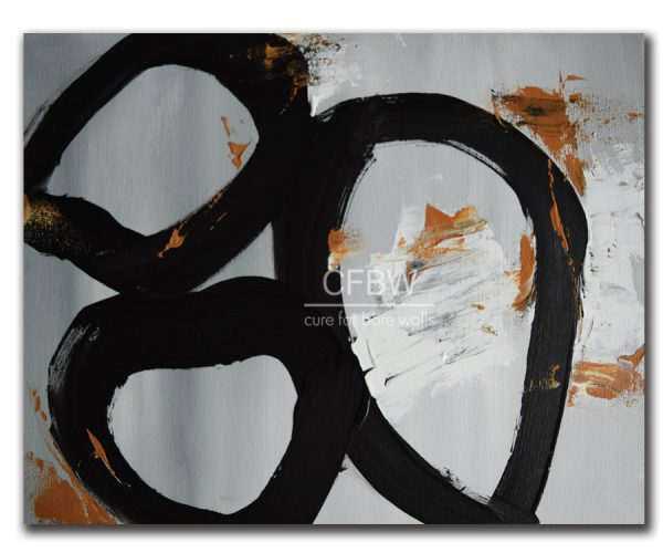 Oversized black white modern circles by LaTanya Renee