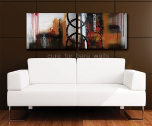 Black red white tan original painting by LaTanya Renee
